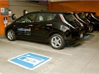King County's four new Nissan LEAFs will be used by employees in the  Seattle Children's Hospital for commuting purposes. Photo courtesy King  County Department of Transportation Metro Transit Division.<br />