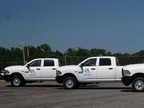 These CNG Ram 2500 trucks are being used by the city's Department of Housing and Neighborhoods. Photo courtesy of City of Little Rock.