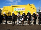 Officials from the City of Columbus and others break ground at the site of will be the City's second publicly accessible compressed natural gas fueling station. Photo courtesy City of Columbus.