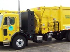 The City of Columbus has invested in CNG by constructing a CNG fueling station and purchasing vehicles, such as this CNG-powered refuse truck.