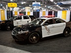 LAPD showed its next-gen Ford Police Interceptors at the IACP Conference. Photo by Mark W. Clark.