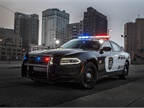 The 2018 Dodge Charger Pursuit features an enhanced version of the optional Officer Protection Package, a system designed to alert officers to movement outside the vehicle that could indicate an ambush.