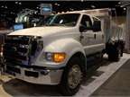 A CNG-fueled Ford F-650 the automaker brought to the ATD show in Las Vegas.
