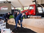 Photo of Jon Pritchett at the ground-breaking ceremony courtesy of Nextran.