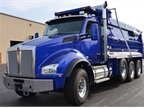 Photo of T880 dump truck via Kenworth.