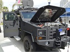 The City of Beverly Hills provided a Lenco armored vehicle for demo