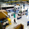 Lodi's new vehicle maintenance shop can hold up to four small vehicles and four large vehicles such as buses or fire trucks for repair and service. The shop is 14,500 square feet and also has an additional 3,000 square feet of storage. (Brian Feulner/News-Sentinel)
