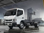 Photo of gasoline-powered FE Canter courtesy of Mitsubishi Fuso.