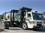 McNeilus Truck and Manufacturing makes a variety of refuse trucks, including side-loaders. Photo courtesy of McNeilus Truck and Manufacturing.