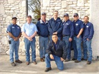 Pictured are fleet staff from the City of New Braunfels (back row, l-r): Fernando Herrera, fleet technician; Jon Pilgrim, fleet manager; Jon Matocha, senior fleet technician; Russell Trevino, parts technician; Cesar Garza, assistant fleet technician; Shane Knudson, fleet technician; Rojelio Torres, assistant fleet technician; and (kneeling) Jose Lopez, assistant fleet technician.