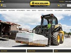 Screencapture of New Holland site.