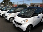 Some of the 11 new smart cars that will be used by the City of Norfolk, Va.,'s Department of Parking.