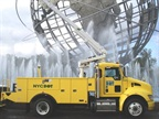 Pictured is a Kenworth T270 hybrid bucket truck used by NYC's Dept. of Transportation. Photo courtesy Kenworth.