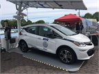 New York City's 30 solar carports wil charge electric vehicles completely off the grid. Photo courtesy of NYC DCAS