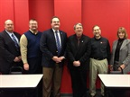 Board members pose for a photo at the March meeting. Pictured left to right are: Scott Perry, sergeant at arms; John King, treasurer; Kelly Reagan, chair; Daryl Syler, vice chair; Jim Durand, secretary; and Terri Smith, association coordinator. Photo courtesy of MEMA-OH