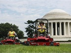 The National Park Service celebrated the propane mowers' first use on June 24. Photo by Amanda Voisard