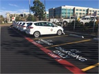Photo of electric vehicles and charging stations courtesy of San Diego County