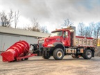 The custom Mack Granite snow plow built for Somerset Township. Photo: Mack