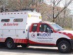 The State Farm logo will appear prominently on 52 State-owned and operated SSP trucks. Photo courtesy of the NJDOT.