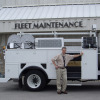 Kansas City Fleet Administrator Sam Swearngin, along with other fleet operations staff, recently received training for the new CNG truck.