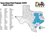 Fleets operating in the blue highlighted counties are eligible for the funding.<br />