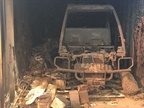 A John Deere Gator burned inside a storage box. Photo courtesy of City of Ventura