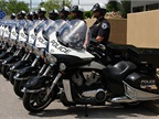 The Tyler (Texas) Police Department took delivery of 10 Victory Commander I police motorcycles. Photo via Victory Motorcycles.