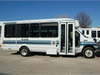 One of the vehicles the Unified Government converted to run on propane autogas is an 13 E-450 paratransit bus.