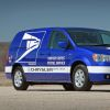 All-electric Chrysler Town & Country minivan prototype for the U.S. Postal Service.