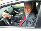 Vermont's Governor Peter Shumlin drove the new Toyota Prius plug-in hybrid that's part of the State's new pilot program. Photo courtesy State of Vermont.