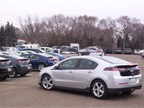 State employees are already asking when the Chevrolet Volts will be available in the motor pool. Photo courtesy NDDOT.