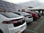 The university's charging stations are powered by a solar array. Photo courtesy of the CEC.