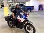 Photo of San Mateo PD electric motorcycle courtesy of Zero Motorycles.