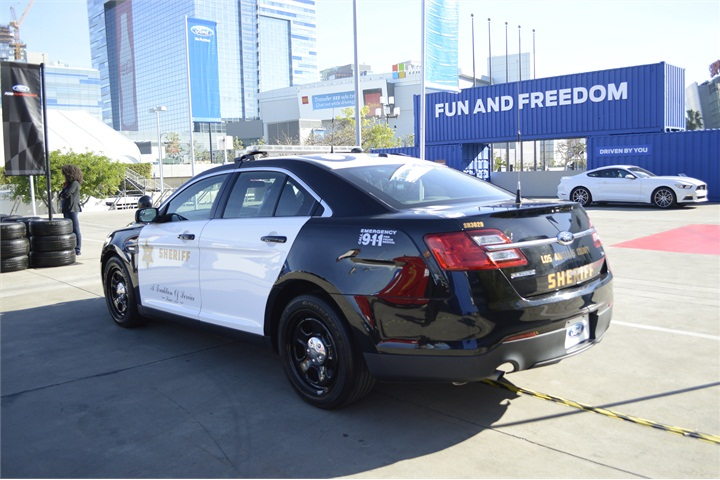 Ford Police Interceptor used by the Los Angeles County ...