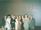 At the 1993 Maggie Awards with the NAILS Magazine team, who won Best