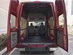 This van provides 323 cubic feet of cargo volume.
