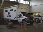 The Police Department s fleet includes dive trucks that carry diving