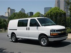 The new Chevrolet Express crew cargo van is available with fixed,