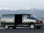 A sliding passenger-side door is optional on Savana cargo models.