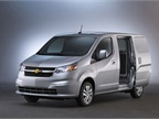 The 2015 Chevrolet City Express compact van offers two side sliding doors.