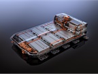 The vehicle s battery offers160 kilowatts of peak power and 60