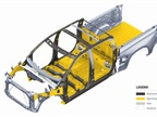 The underlying safety cage features significant use of advanced high