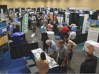 The exhibit hall was well attended by those interested in