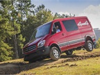 The new Sprinter 4x4 is tested on a dirt track at the Mercedes-Benz van reassembly plant in Ladson, S.C.