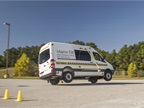 The Sprinter used to test the Adaptive ESP feature makes sharp turns
