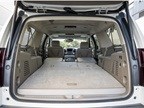 With the seats down, you have a maximum cargo capacity of 121.1 cubic