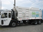 Here s another shot of the CNG-fueled refuse vehicle.
