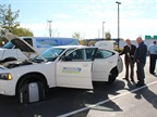 American Alternative Fuels had a propane-fueled Dodge Charger on hand.