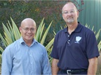 Pictured are (left) Rene Biadoma, fleet manager, and Craig Crowder,