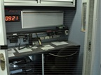 Pictured is the communications area of the mobile command post.